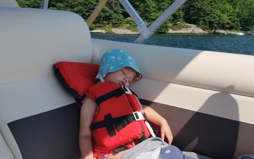 boating is tiring