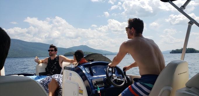 jimmer tj dani on boat
