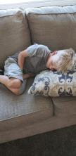 chris sleeping