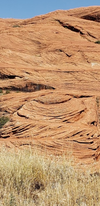 Just looked like swirling rocks after years of erosion. Amazing