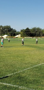 Jason at his flag football game