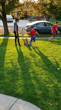 lindsay with kids
